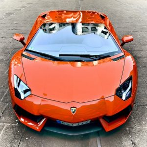 Beautifull Orange Lamborghini Aventador